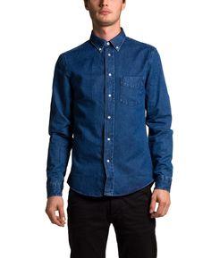 Acne Isherwood Bleached Denim Shirt