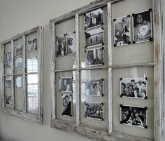 Encadrer entre les petits bois des vieilles fenêtres. Vintage Windows, Old Windows, Vintage Window Decor, Antique Windows, Wooden Windows, Casement Windows, House Windows, Old Window Projects, Home Projects