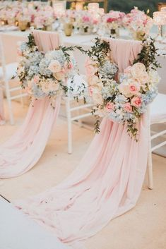 Pastel and Golds for a Traditional Outdoor Thailand Wedding Ceremony. Photography by Terralogical ceremony chairs Pastel and Golds for a Traditional Outdoor Thailand Wedding Ceremony Pastel Wedding Theme, Pastel Pink Weddings, Pink Wedding Colors, Wedding Color Schemes, Spring Wedding Themes, Vintage Pastel Wedding, Blue Silver Weddings, Spring Weddings, Wedding Flowers