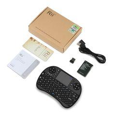 Bqeel Mini Teclado Inalámbrico con Touchpad, batería recargable y botones multimedia para Smart TV, mini PC, Android TV Box y más: Amazon.es: Electrónica
