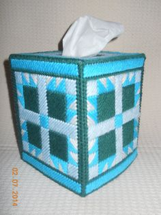 1000 images about plastic canvas crafts tissue box for Plastic blocks for crafts