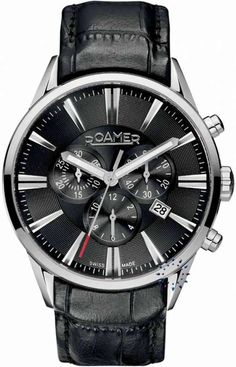 Roamer Gent's Black Chronograph Watch 508837415505