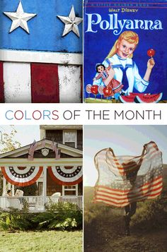 Call us old-fashioned, but July's color inspiration is Americana. Subtly modernized hues or straight-forward USA red, white & blue, it all screams July. Family. BBQs. Lighting off (mostly) legal fireworks in the streets (mostly not legal) with neighbors…makes us all warm and fuzzy inside. And man we're a sucker for red, white and blue bunting around the 4th – a total holdover from a childhood obsession with Pollyanna. *sigh*