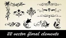 Free Vector Download - 22 Floral Elements - You The Designer