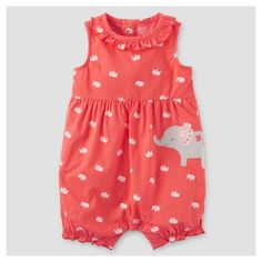 Baby Girls' One Piece Elephant Romper - Just One You Made by Carter's Pink NB