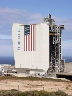 Lompoc is the town that supports Vandenberg Air Force Base.  This is Space Launch Complex Six (SLC-6) at VAFB, where missiles are launched.
