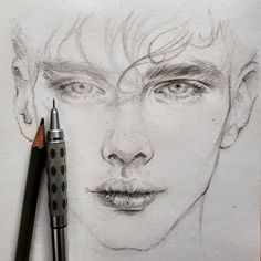 A pencil, paper and drawing, simple things that make you happy. 🙂 Beautiful drawings created by _____________________ ▪… beauty drawings Pencil Sketch Portrait, Portrait Sketches, Pencil Art Drawings, Realistic Drawings, Art Drawings Sketches, Portrait Art, Drawing Portraits, Drawing Faces, Pencil Sketches Of Faces