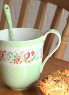 Image detail for -Greengate Stoneware Tea Cup - Ivy Green - £12.50