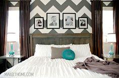 Master Bedroom Chevron Wall