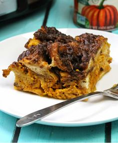 Overnight Pumpkin French Toast Casserole | A great recipe for fall breakfast!