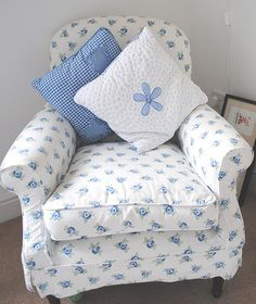 Laura Ashley Blue Chair by Mimi and Bo, via Flickr