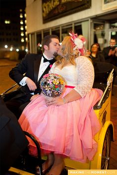 by Hair Architect, via Flickr. Beautiful bride in pink and white. www.bigcurvylove.com