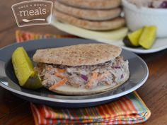 Make some tuna salad sandwiches, and stick 'em in the freezer.   18 Make-Ahead Meals And Snacks To Eat Healthy Without Even Trying