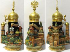 Limited Edition Moscow Russia 3D German Beer Stein .75L