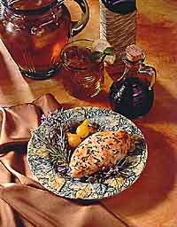 Balsamic Roasted Chicken. (242 mg sodium per serving)    Roasting chicken with balsamic vinegar is a great alternative to using salty marinades.