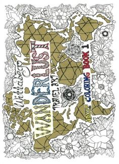 Adult Coloring, Coloring Books, Wanderlust Travel, Book 1, Amazon, Places, Art, Adult Colouring In, Vintage Coloring Books