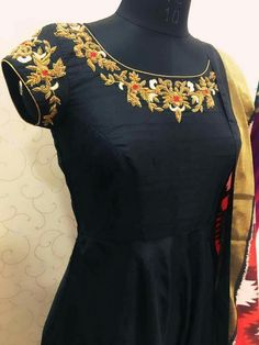 Fabloon in Chennai ,Fabloon Boutique In Chennai provides customized designer clothing. Hand Work Blouse Design, Kids Blouse Designs, Blouse Neck Designs, Salwar Neck Designs, Silk Saree Blouse Designs, Kurta Designs, Simple Gown Design, Long Dress Design, Designer Anarkali Dresses