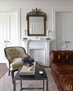 Квартира с парижским настроением, 100 м² Interior Inspiration, Oversized Mirror, Interiors, Interior Design, Furniture, Home Decor, Design Interiors, Interieur, Home Furnishings