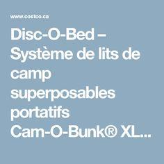 Disc-O-Bed – Système de lits de camp superposables portatifs Cam-O-Bunk® XL et accessoires