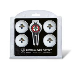 NHL Florida Panthers 4 Ball Gift Set by Team Golf. $17.83. Divot Tool with belt/money clip. Four regulation golf balls. Imprinted durable logo on the balls. Extra small marker on the back. Includes removable double-sided enamel color fill magnetic marker. Set includes 4 regulation golf balls with full color school logo durable imprint, divot tool with belt clip and removable double sided enamel color fill magnetic marker. Includes extra small marker on the back.. Save 31% Off!
