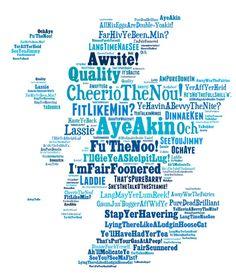 SCOTTISH SAYINGS PRINT- Funny Art Scottish Slang Phrases. Unique Unusual Celtic Gift Birthday, St Andrews Day, Leaving.Scotland