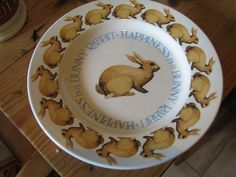 Happiness is a Bunny 8.5 inch Plate 2012 (Discontinued)