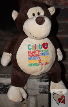 CHD personalized Monkey Warrior Pet by sandrahuss on Etsy, $34.95