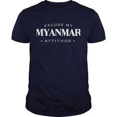 Excuse my Myanmar Attitude T-shirt Myanmar Tshirt,Myanmar Tshirts,Myanmar T Shirt,Myanmar Shirts,Excuse my Myanmar Attitude T-shirt, Myanmar Hoodie Vneck