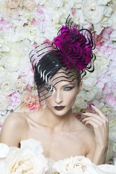 Philip Treacy London | Rosette Beret | Black and Berets | LOVEHATS.COM