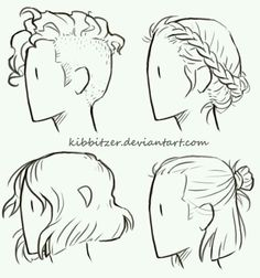 Hairstyles For Short Hair Drawing #drawing #hairstyles #hairstylesforshorthair #short