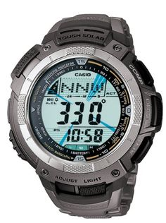 Casio Men's PAW1100T-7V Pathfinder Altimeter and Barometer Solar Atomic Digital Watch: Casio: Watches