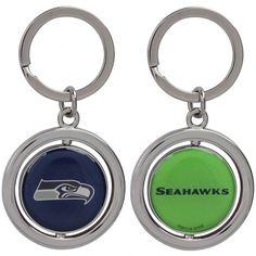 Seattle Seahawks Football Spinner Keychain