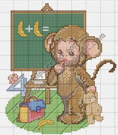 creaciones FOG: gráfico bebé disfrazado de mono en el cole