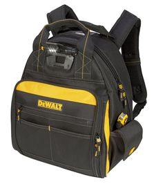 DEWALT Lighted Tool Backpack Bag, - It is perfect and was exactly what I need.This DEWALT that is ranked 7864 in the top most popular items in Hvac Tool Bags, Hvac Tools, Dewalt Tools, Tool Bag Backpack, Best Tool Bag, Electrician Tool Bag, Belt Storage, Tool Storage, Backpack Reviews