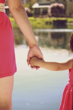Love this one! mom and daughter holding hands