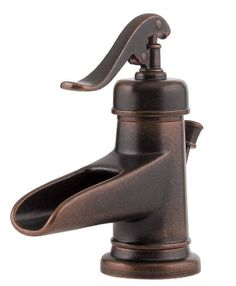 "Yep - they have it, and it's cheaper than Home Depot!  Pfister Ashfield Single Control Waterfall 4"" Centerset Bathroom Faucet in Rustic Bronze Pfister,http://www.amazon.com/dp/B002YD7UAE/ref=cm_sw_r_pi_dp_BgXmtb0W8Z3RXABV"