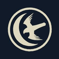 Crest of the House of Arryn from Game of Thrones. Inspiration for a dove + moon tattoo