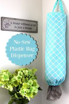 Learn how to make your own DIY No Sew Plastic Bag Dispenser, on the blog today! http://scrappygeek.com/diy-no-sew-plastic-bag-dispenser/  #UltimateLitter | ad