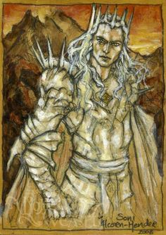 Annatar by Soni Alcorn-Hender. I this picture! Tolkien, Lotr Swords, Silence In The Library, Lord Sauron, Fantasy Characters, Fictional Characters, Dark Lord, Sci Fi Fantasy, Middle Earth