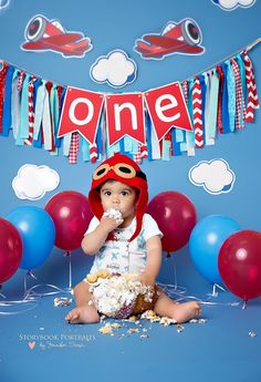 Up Up and Away First Birthday Outfit by WillowRayneDesigns on Etsy