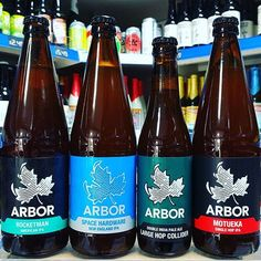4 New Beers from @arborales available now in 568ml bottles  Rocketman - 6% IPA Hopped with Mosaic & Citra  Space Hardware - 6.6% New England IPA Hopped with Ekuanot Galaxy Mosaic & Simcoe  Large Hop Collider - 8% DIPA Hopped with Citra & Mosaic - 330ml bottles  Motueka Single Hop New Zealand IPA 6.7%