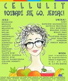 CO JEŚĆ PODCZAS WALKI Z CELLULITEM - SZYBKA ŚCIĄGA DLA PAŃ Healthy Tips, Healthy Recipes, Healthy Food, Sport Diet, Dieet Plan, Fitness Planner, Slow Food, Food Inspiration, Natural Health