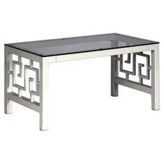 Found it at Wayfair - Greek Key Coffee Table in Marshmallow White