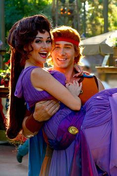 mydisneyadventures:  Megara and Hercules on Flickr.