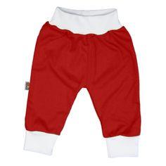 Pantalon rouge en 100% coton pour bébé http://simedio.fr