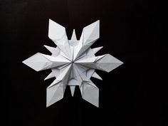 Настоящая Снежинка из Оригами Origami Snowflake Riccardo Foschi - YouTube