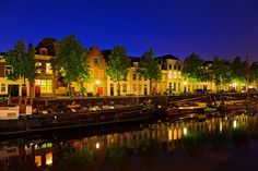 Netherlands is often called as Holland, half of which was under the water once. But today it is well urbanized and having average population. Night Pictures, Amsterdam Netherlands, Top Hotels, The Province, Holland, View Image, Beautiful Homes, Mansions, House Styles