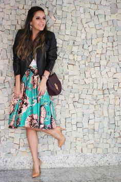 Look da Camis | Blog Sim Senhorita | Camila Gomes | Jaqueta Feira de Couros, Regata NK Store para C&A, Saia Fleche D´or, Bolsa Nina Bricó, Scarpin Zara