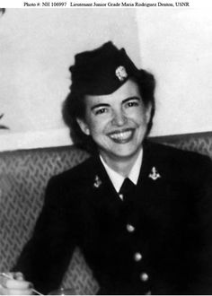 Lieutenant Junior Grade Maria Rodriguez Denton, USNR Lieutenant Junior Grade Denton was the first Puerto Rican WAVES officer. Born in Guanica, Puerto Rico, she served from October 1944 to November 1945. Courtesy of the Women in the Military Service for America Memorial Foundation Inc U.S. Naval History and Heritage Command Photograph.