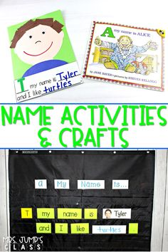 Fun name activities for early learners. These interactive charts and crafts will keep your students engaged and learning during the first weeks of school. #nameactivities #kindergartencrafts #backtoschool #earlylearners Kindergarten Name Activities, Preschool Names, Activities For Teens, Kindergarten Teachers, First Grade Teachers, First Grade Classroom, Primary Classroom, Classroom Ideas, Abc Phonics
